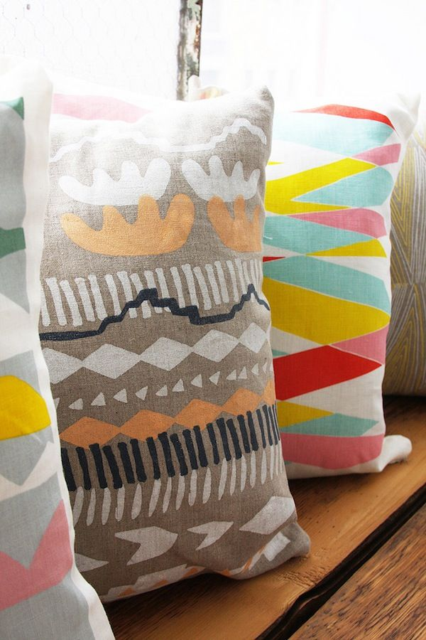 -via Leah Duncan / I love the combination of bright and muted. Also seen  HERE.