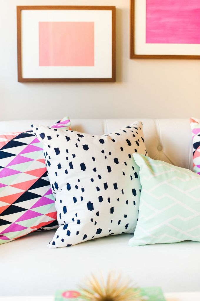-via Caitlin Wilson Textiles / This unlikely mix of patterns and colors is uh-mazing.