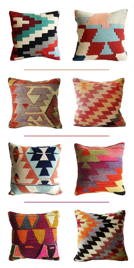 -via etsy.com (Sukan - Organic Modern Bohemian Throw Pillow) / These kilim pillows are so beautiful, but like the sequins above, they more for  looking at  than for actually cuddling up next to. They're usually pretty scratchy and dense.