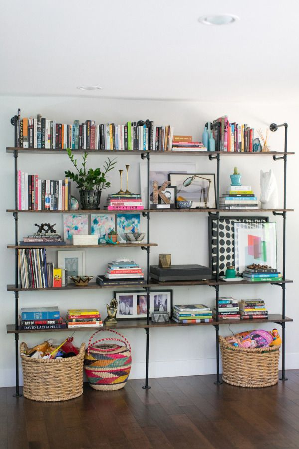 via stylemepretty.com / I love how pops of color are spread throughout.
