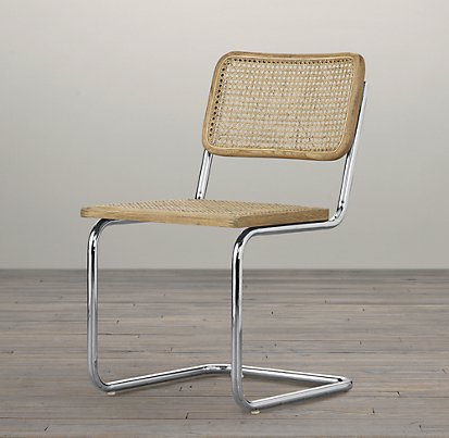 Restoration Hardware - Bauhaus Side Chair - I'm newly obsessed with the caning on these chairs.  it's a lost art that my mother-in-law (in Iowa) still does by hand. Contact me if you want her contact info.  She does a lot of repairing, too.