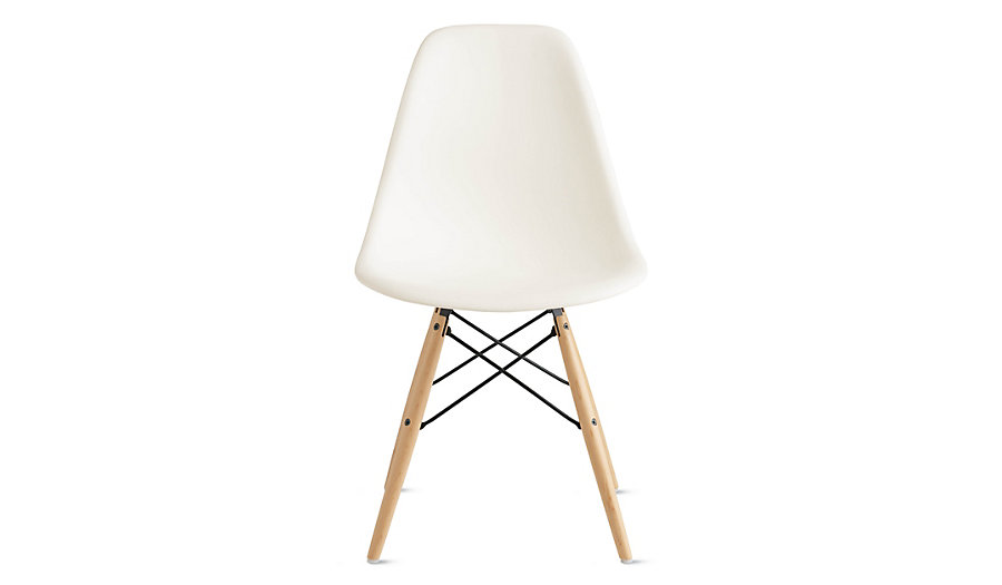 DWR - Eames® Molded Plastic Dowel-Leg Side Chair (I have these and LOve them, but no, I don't enjoy sitting in them for hours on end).
