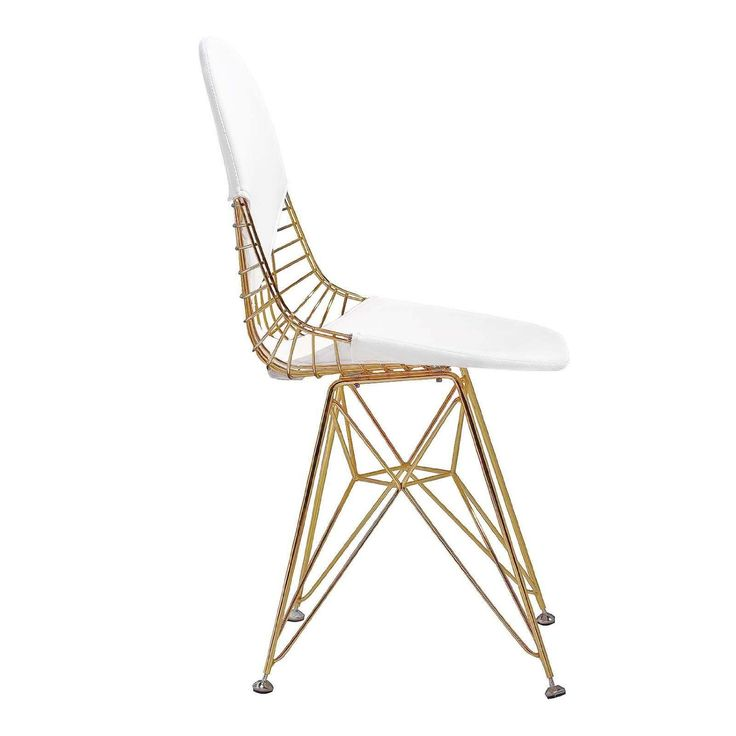 Meelano M245 Chair, Gold/White - kinda crazy/glam, and surprisingly affordable - check amazon
