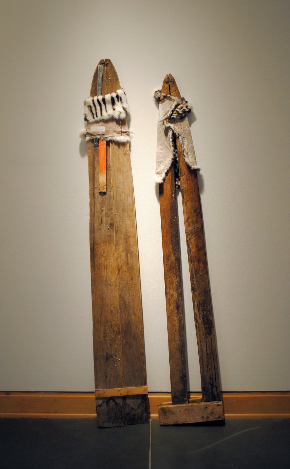 Stretch, inherited objects (coyote fur stretchers) and rabbit fur, 2017