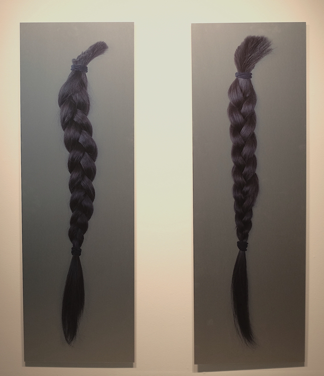 "Length, photographic print on aluminum, 60"" x 20"", 2016"