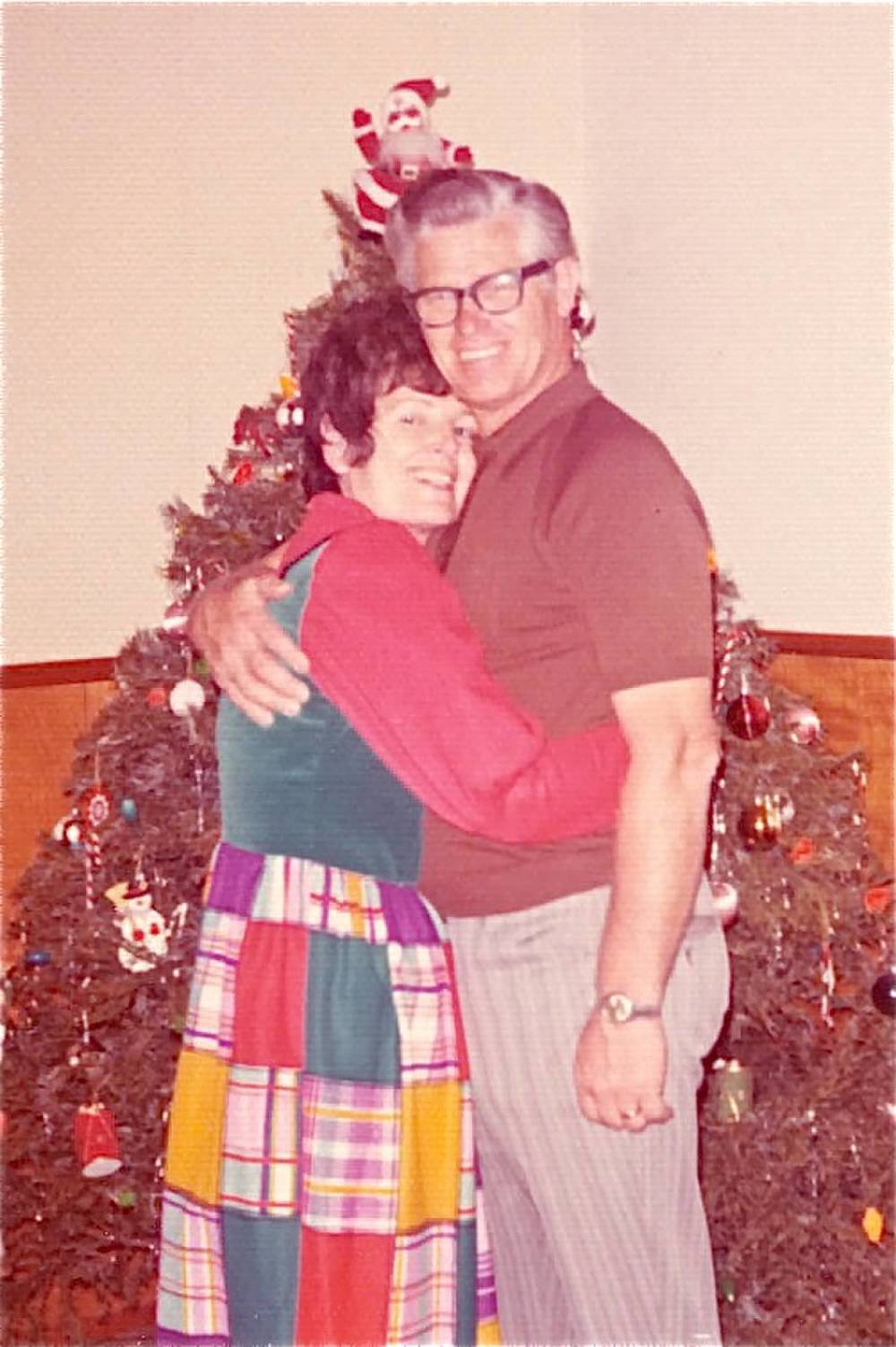 Nana was always so fashion-forward and Papa's smile was one of his best accessories.