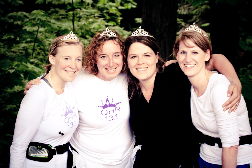 Me and some of my dearest friends as we conquered the 13.1 mile QHR, 2011.