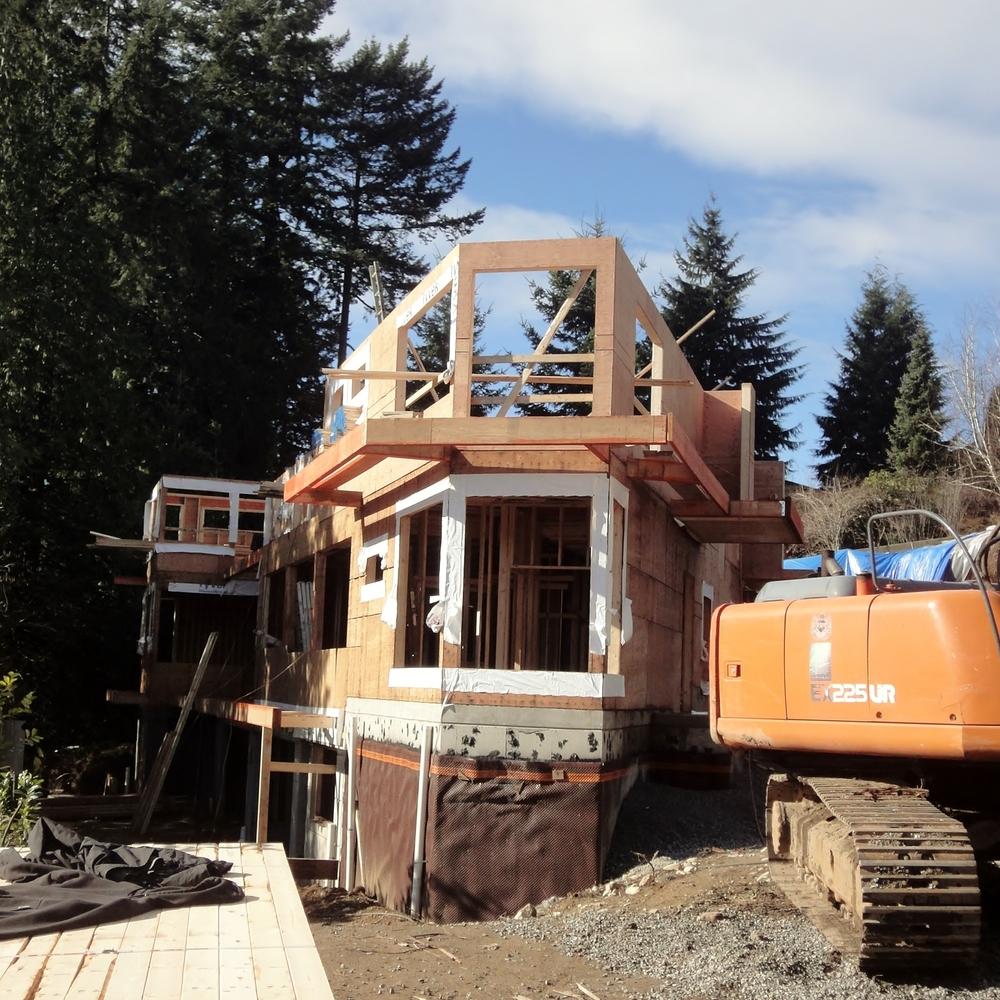 Keith Road Duplex under construction
