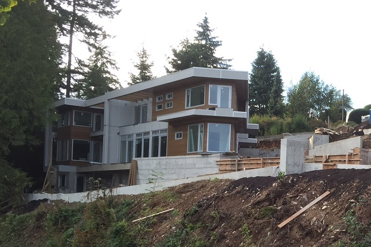 Keith Road duplex project in West Vancouver is nearing completion, 10 Oct 2014