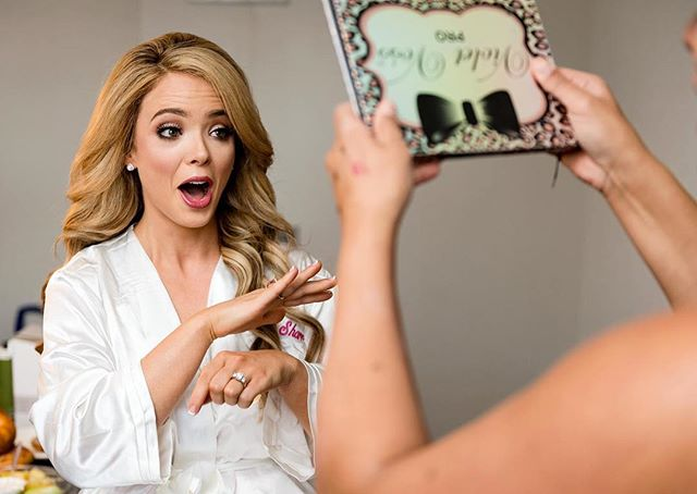 Every#Bride should be this excited when she sees her hair and makeup for the first time! 💋 . . #beautybywhitney #stlmakeupartist #stlwedding #destinationweddings #bridebook #hairandmakeupbysteph #weddinghair #weddingmakeup #weddinginspiration #beauty @shopvioletvoss @temptu #airbrushmakeup #kenra #chanel #ardelllashes #anastasiabeverlyhills
