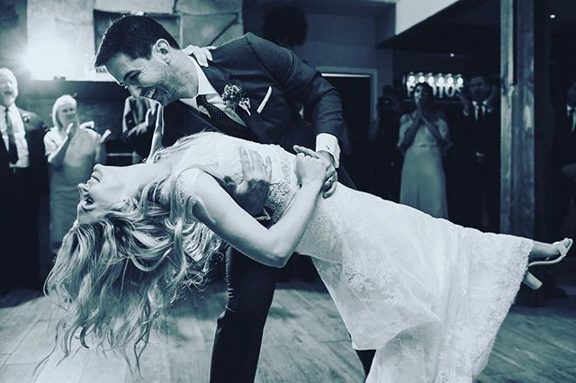 👀😍💃🏼 Loving this shot from Marilyn & Nate's first dance at their #wedding! Gorgeous!!! So proud of you guys!! Congrats!!👌🏻#takemyleadla #bride #groom #dancer #dip #love #romance