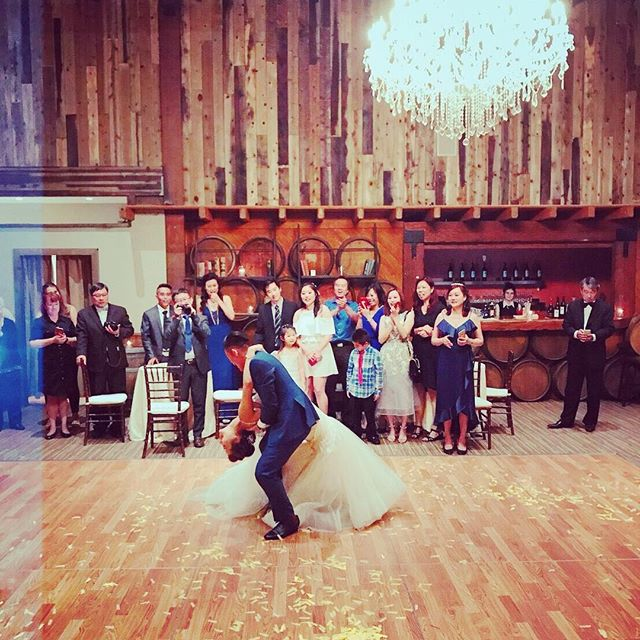 Gorgeous dip from Yenting and Michael's wedding last week! #takemyleadla #wedding #tango #dancer #love #passion
