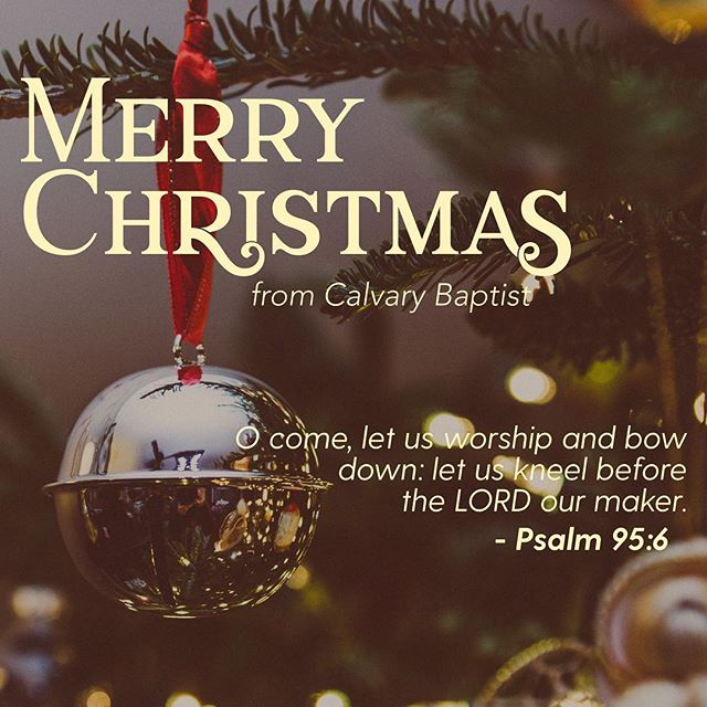 Merry Christmas from Calvary!