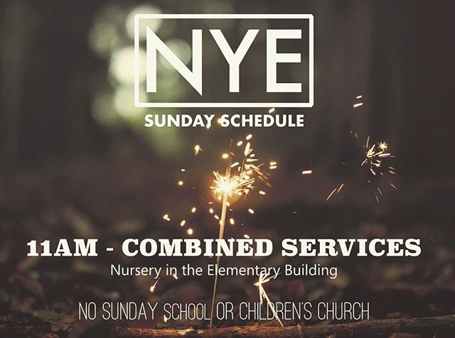 One service this Sunday at 11am.