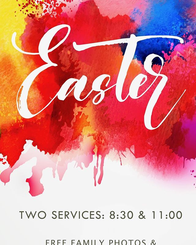 Spend Easter at CBC! Early service begins at 8:30, followed by breakfast, an Easter Egg hunt, and free family photos! Our identical second service begins at 11am. Hope to see you there!