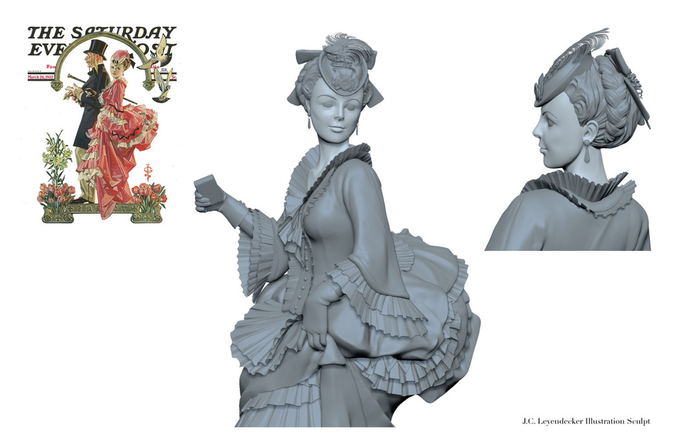 Sculpt from J. C. Leyendecker Illustration.