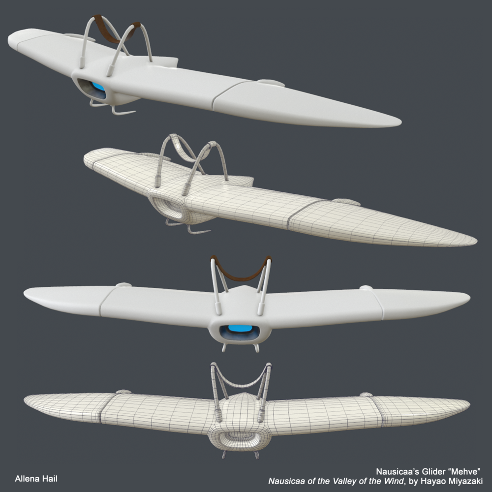 Nausicaa's Glider from Miyazaki's Nausicaa of the Valley of the Wind.