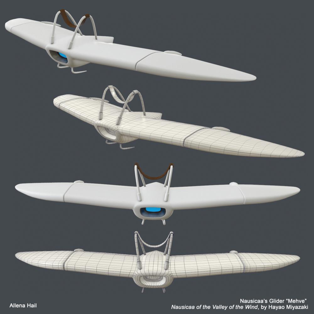 Nausicaa's Glider from Miyazaki's Nausicaa of the Valley of the Wind.