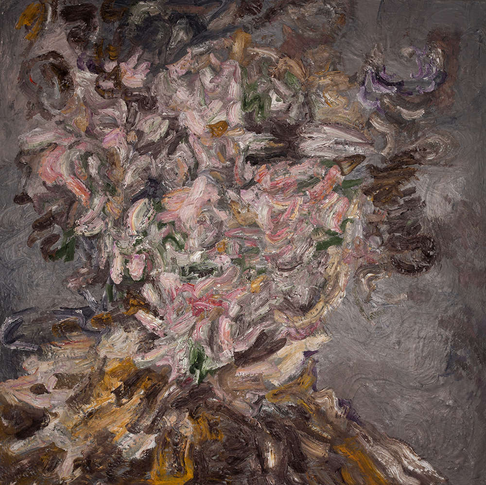 Dry Feast,  2015  Oil and plaster on wood  72x72""