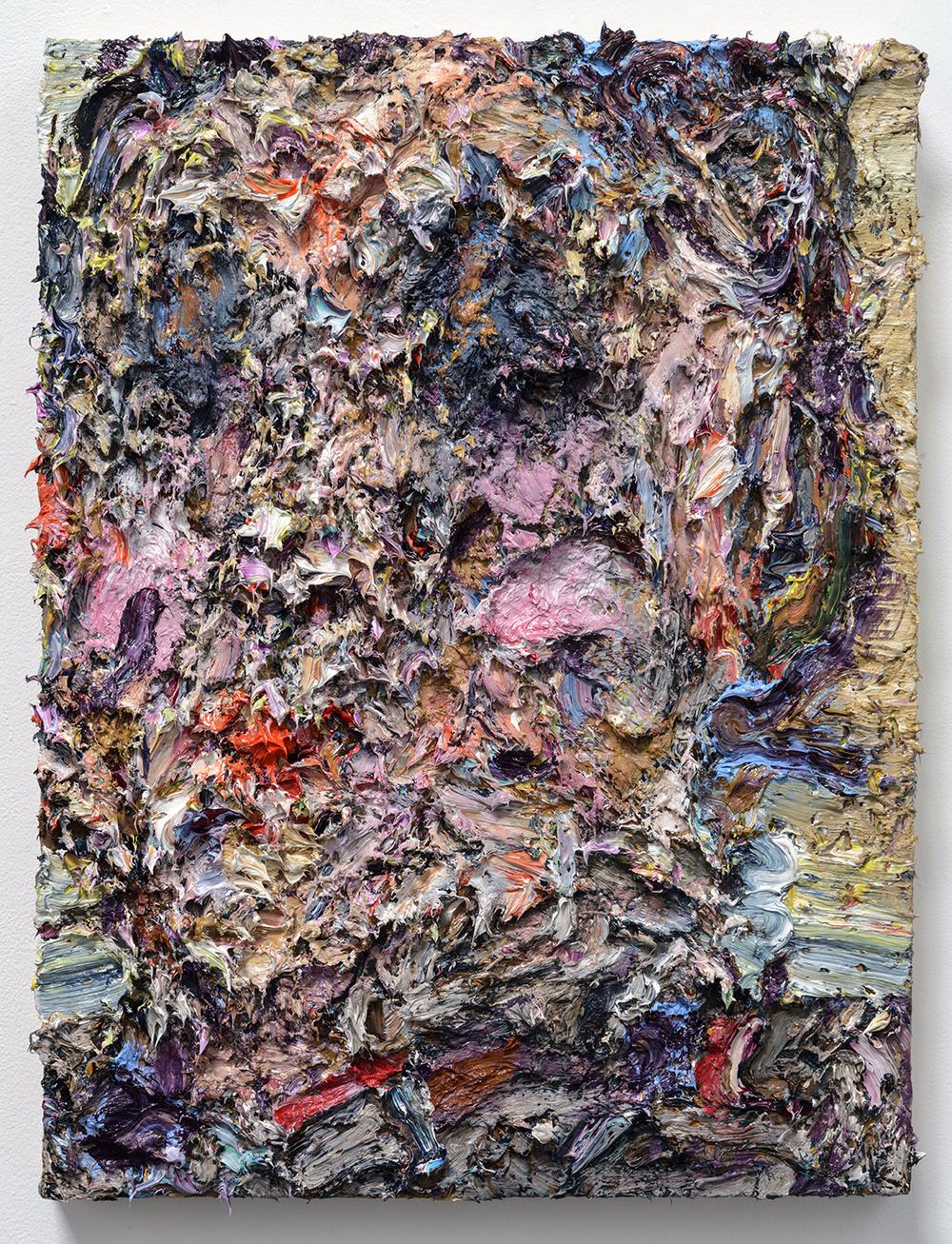 """George , 2015  Oil on wood, 20x16"""""""