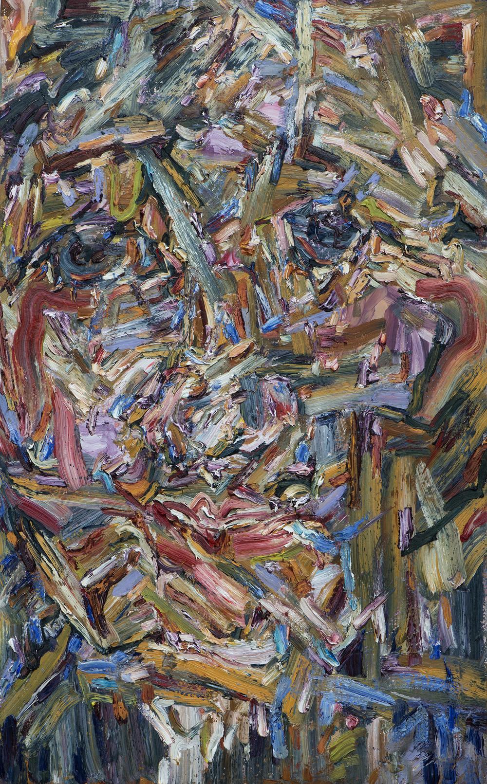 """Boyd , 2015  Oil on wood, 35x56"""""""