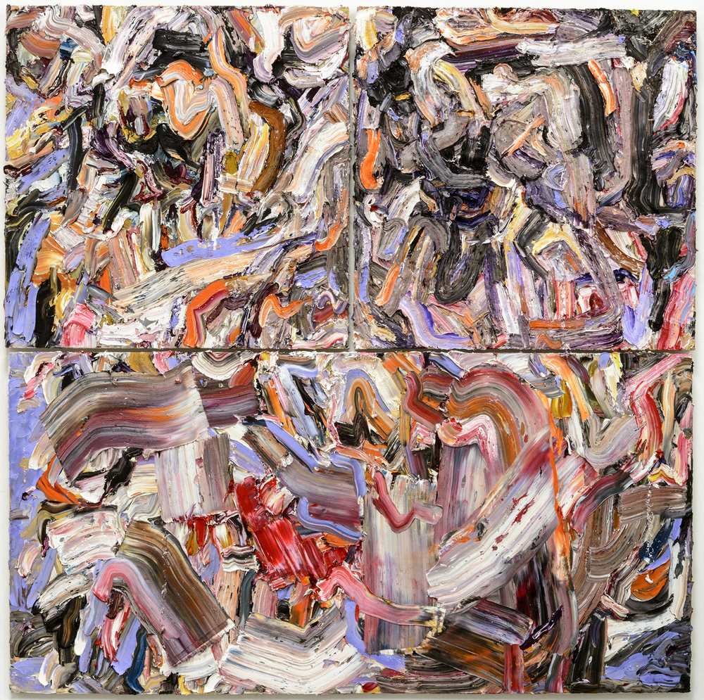 """Roundabout , 2015  Oil on wood, 72x72"""" (triptych)"""