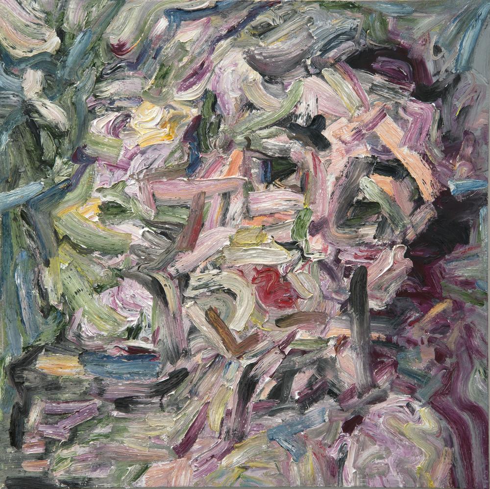 "Night Gaze , 2015  Oil on wood, 48x48"""