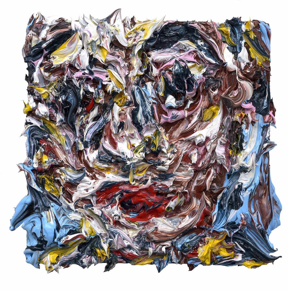 """Moonwalk, 2015  Oil on wood  4x4"""""""