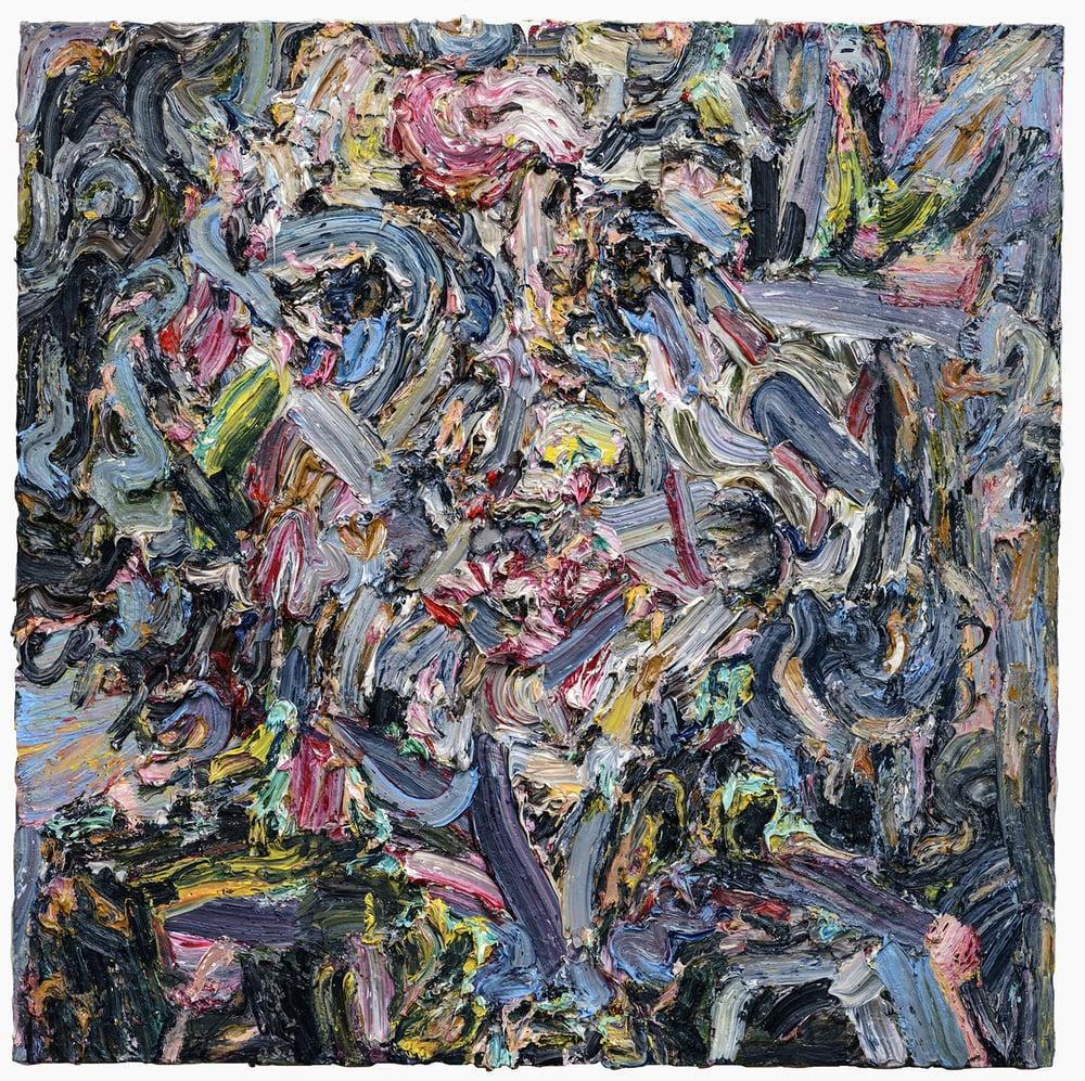 "Royal Blue, 2015  Oil on wood  36"" x 36"""
