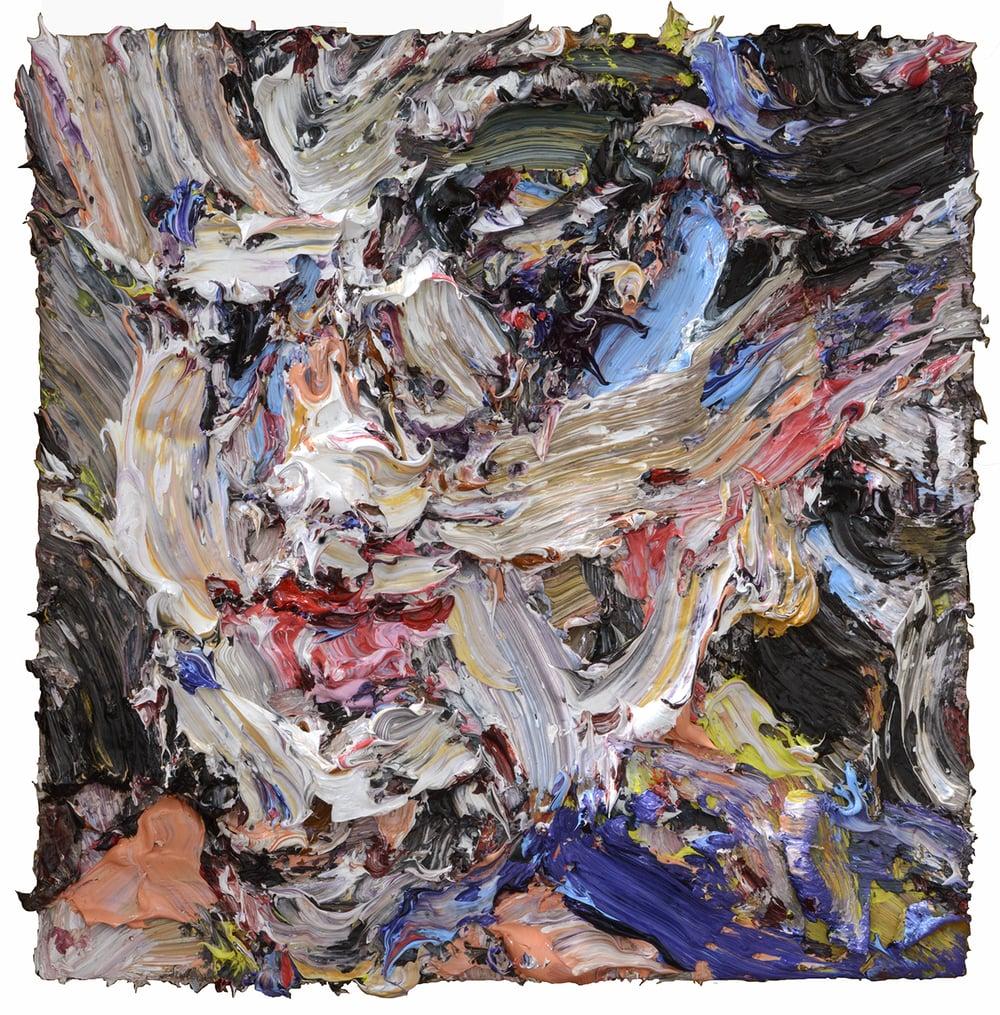"Rocky, 2015  Oil on wood  8"" x 8"""
