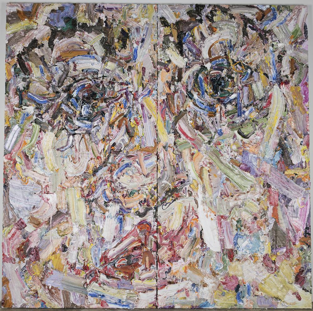 "Glory, (diptych) 2016  Oil on wood, 96x96"""