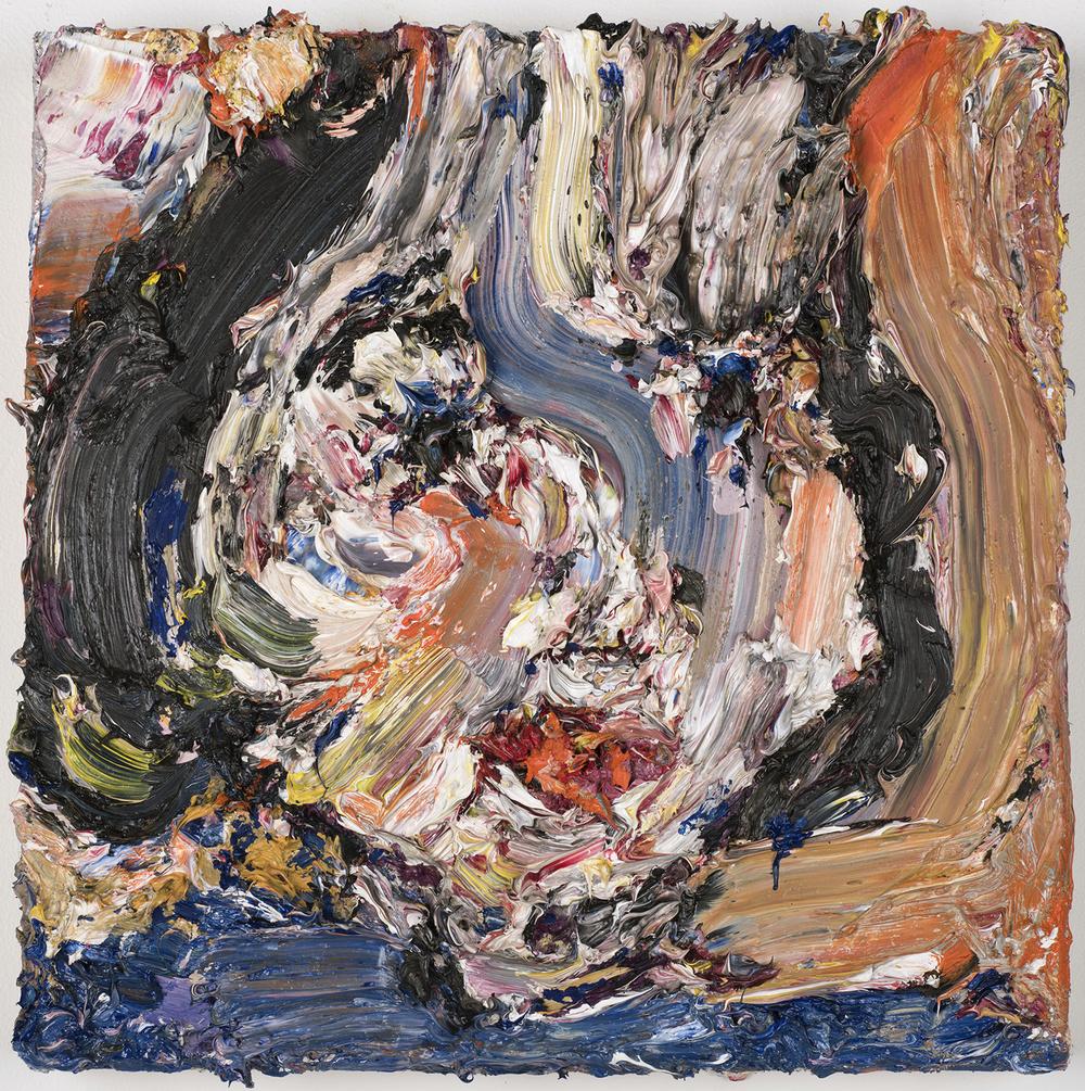 """Interlaced, 2015  Oil on wood, 12x12"""""""