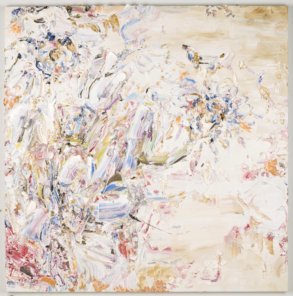 "Through the Haze, 2016  Oil on linen, 43x43"""