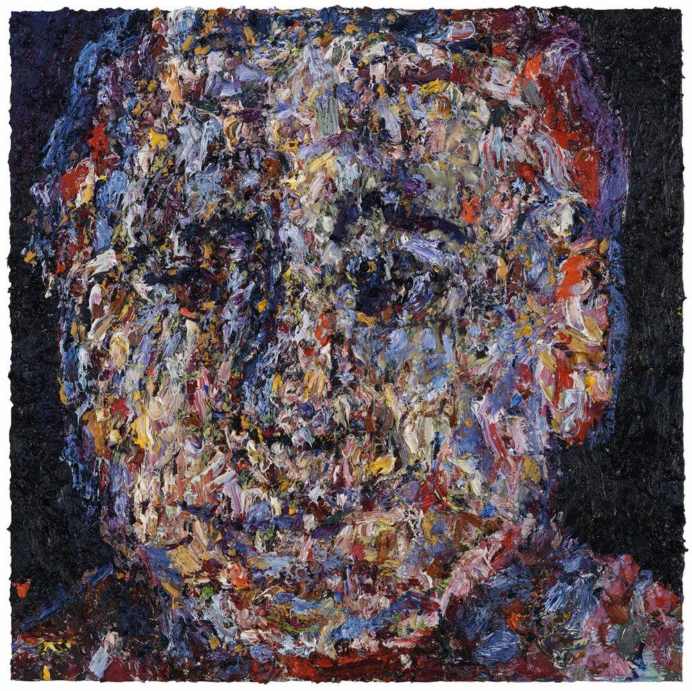 """Midnight Interior,  2017  Oil on panel, 36x36"""""""