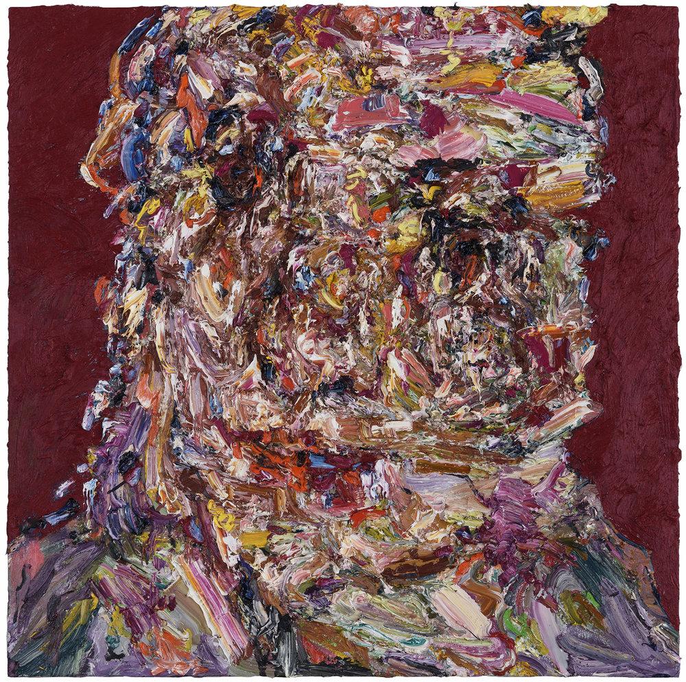 """The Hallway,  2017  Oil on canvas, 36x36"""""""