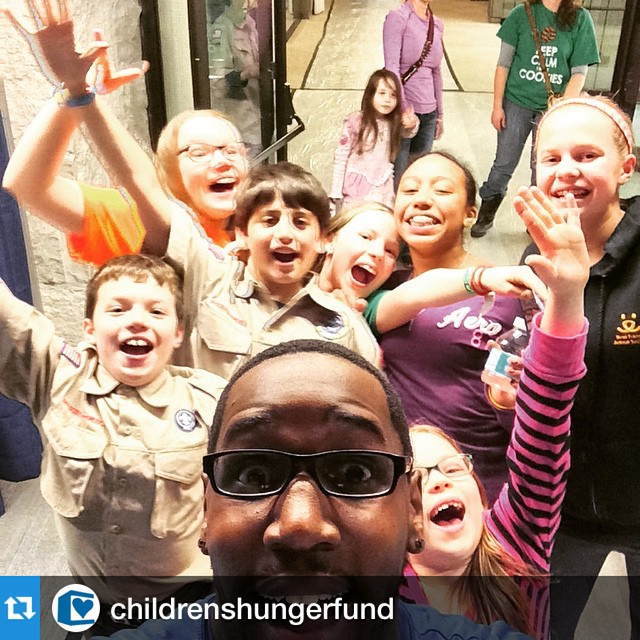 #Repost @childrenshungerfund・・・#cubscout #groupie #deliverhope @christchurchob