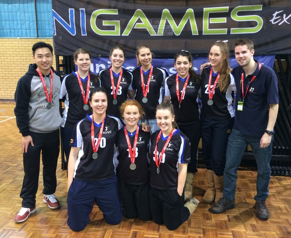 Our 2015 Womens Indoor Volleyball team, silver medallists at 2015 Southern University Games.