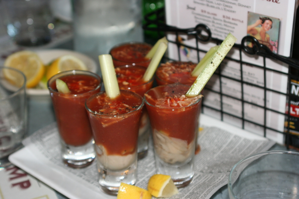 Murph's Famous Bloody Mary Oyster Shooters
