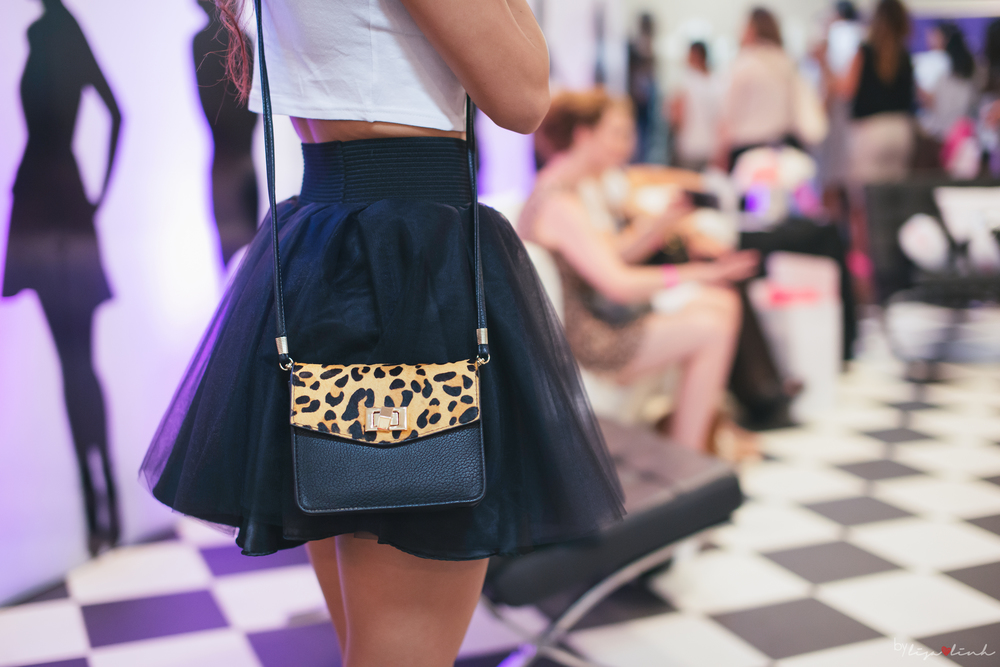 Black and leopard print bag from Salsit | Tulle skirt from Bliss Tulle