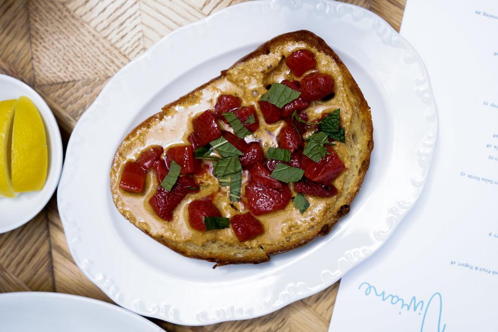 Marcona Almond Butter Tartine