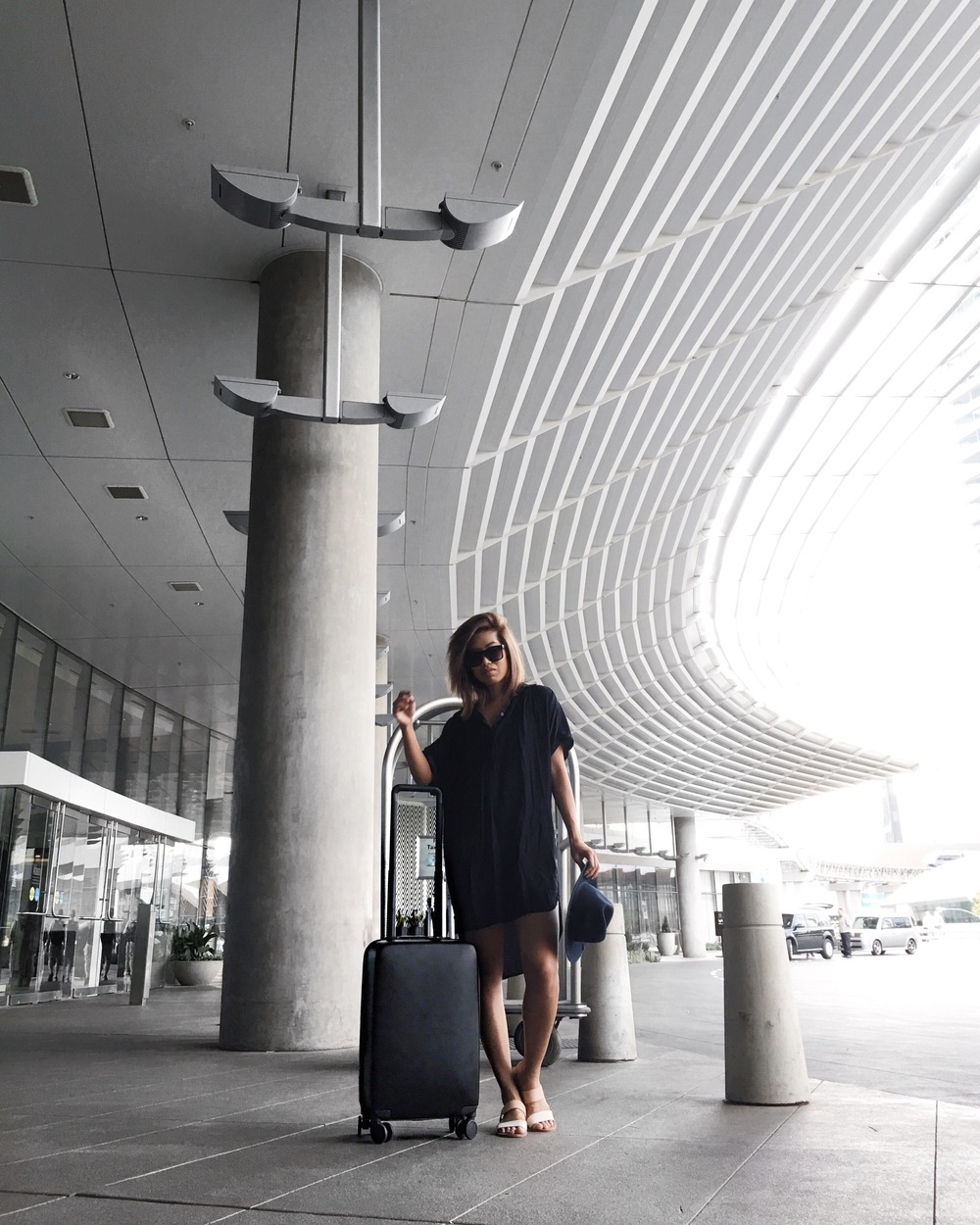 Luggage: Raden A22 Carry (black) / Dress: Forever 21