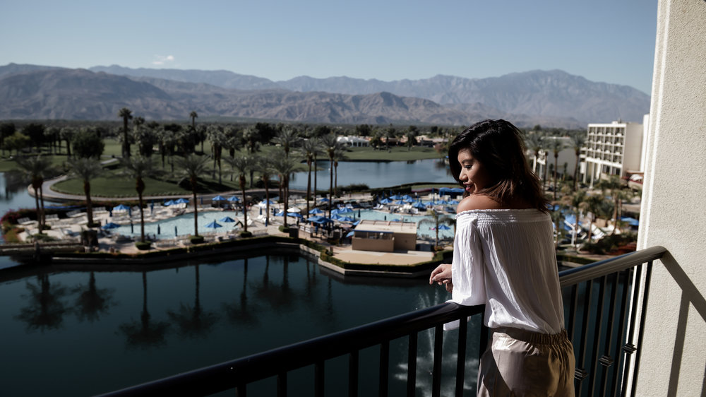Marriott Desert Springs Suite Balcony View by Lisa Linh