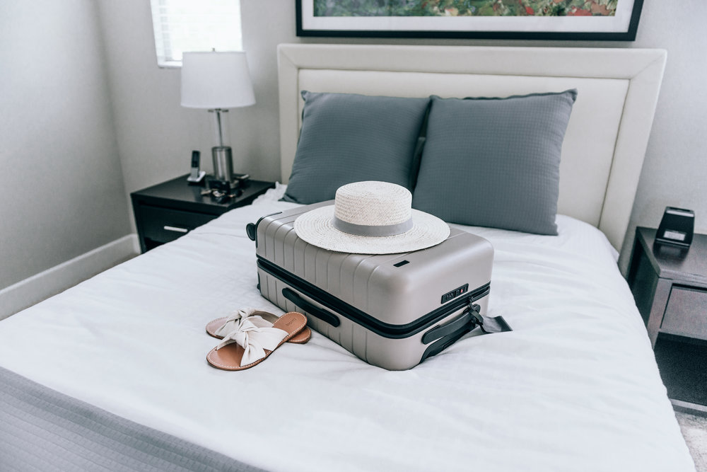 Luggage  |  Away  ( Get $20 OFF by clicking here! );  Hat  |  Hat Attack  ;  Sandals  |  Soludos