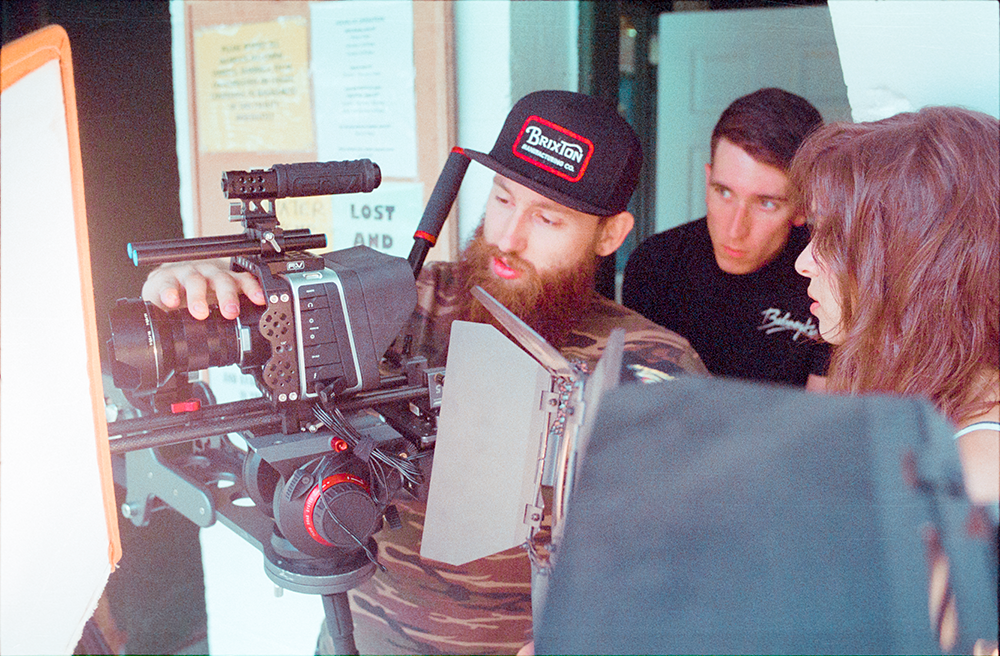 Director of Photography Michael Russo, Head Gaffer and Sound Operator Ryan Hansen, Director Chelsea Lupkin.  Photo by Jimmy O'Donnell.