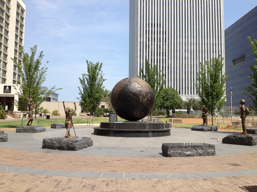 Tulsa Art Scultpure in Downtown