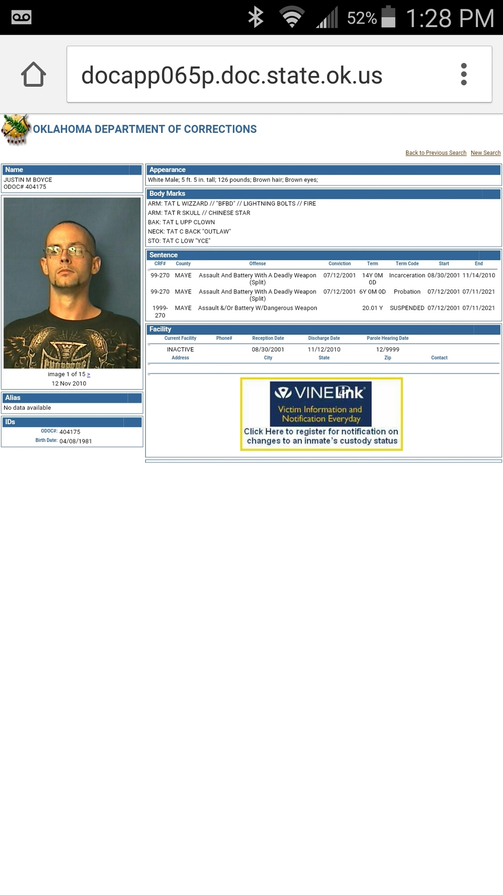 Alameda Bail Bonds in Tulsa Most Wanted caught by Pryor Law Enforcement.