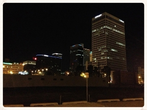 Downtown Tulsa Skyscrapers from Parking lot.