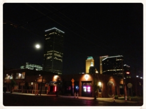BOK Tower behind the Downtown Lounge (DTL).  If your looking for a great night out in Oklahoma why not stay in Tulsa, Oklahoma.