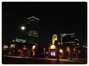 Tulsa Skyline viewed from corner of Cheyenne Ave and Archer Street.