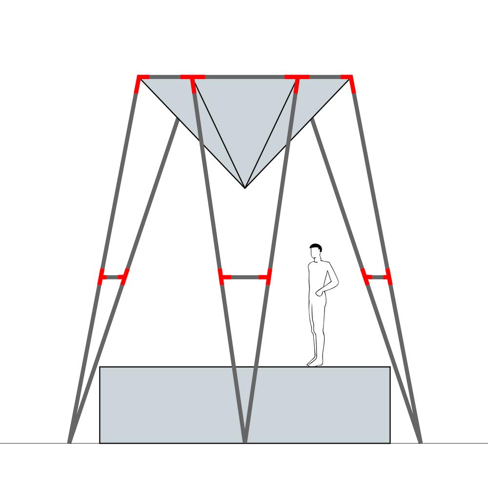 Konstruktionszeichnung der Sanduhr